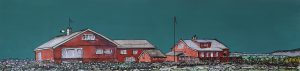 Red houses at Mostorøy, Norway